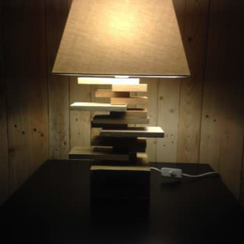Lamp for a Side Table / Lampe De Chevet