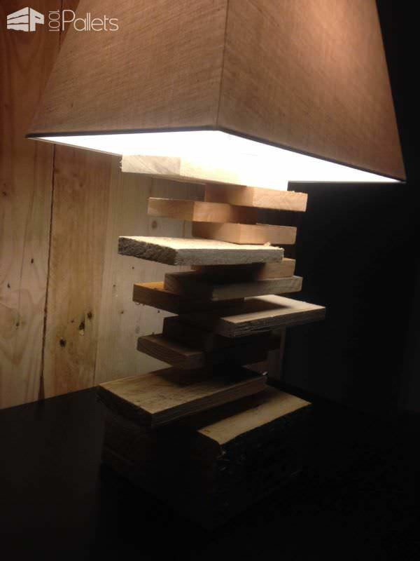 Lamp for a side table lampe de chevet 1001 pallets - Lampe table de chevet ...
