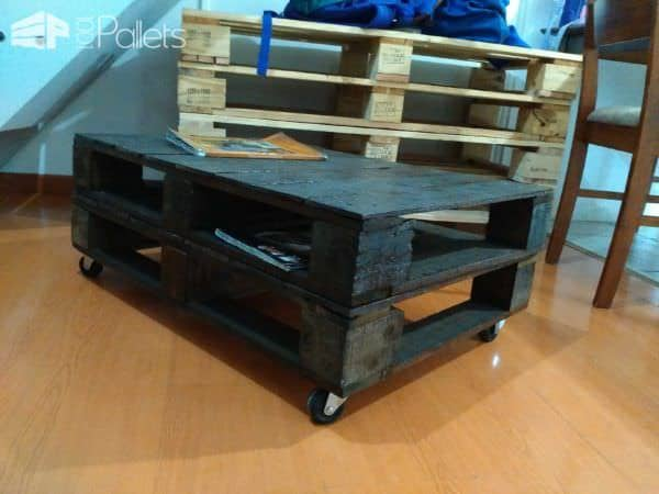 Mesa Ratona - The Easy Pallet Table Pallet Coffee Tables