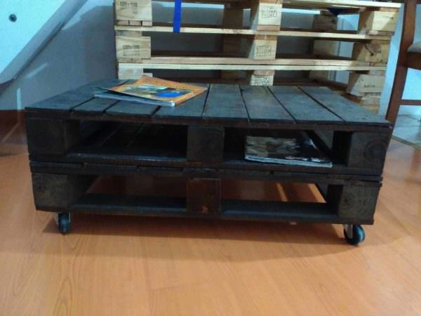 Mesa Ratona – The Easy Pallet Table Pallet Coffee Tables