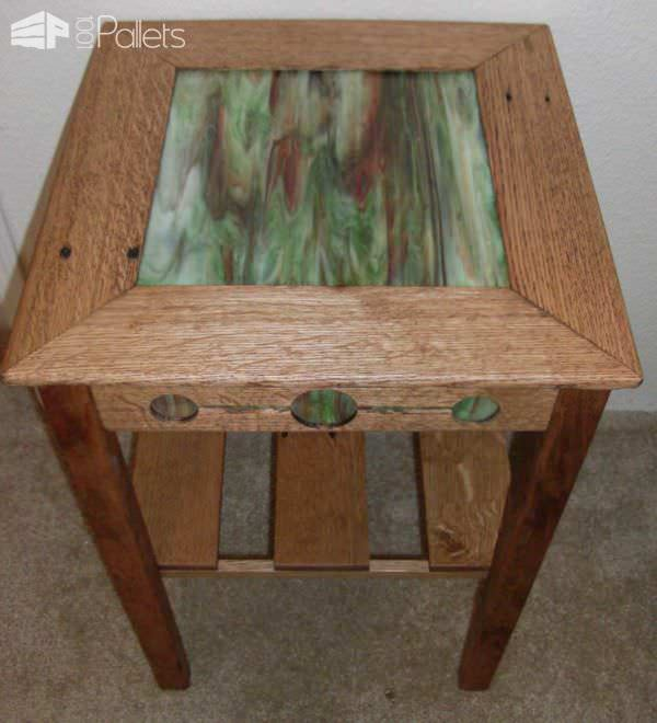 Mission Style Nightstand Pallet Desks & Pallet Tables