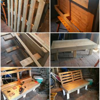 Outdoor Pallet Bench Seat