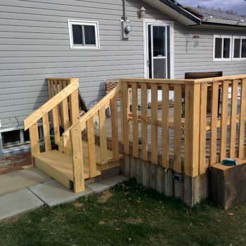 Outside Pallet Deck