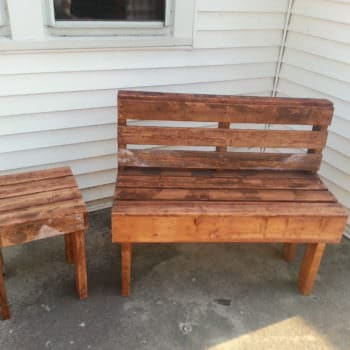 Pallet Bench & Table