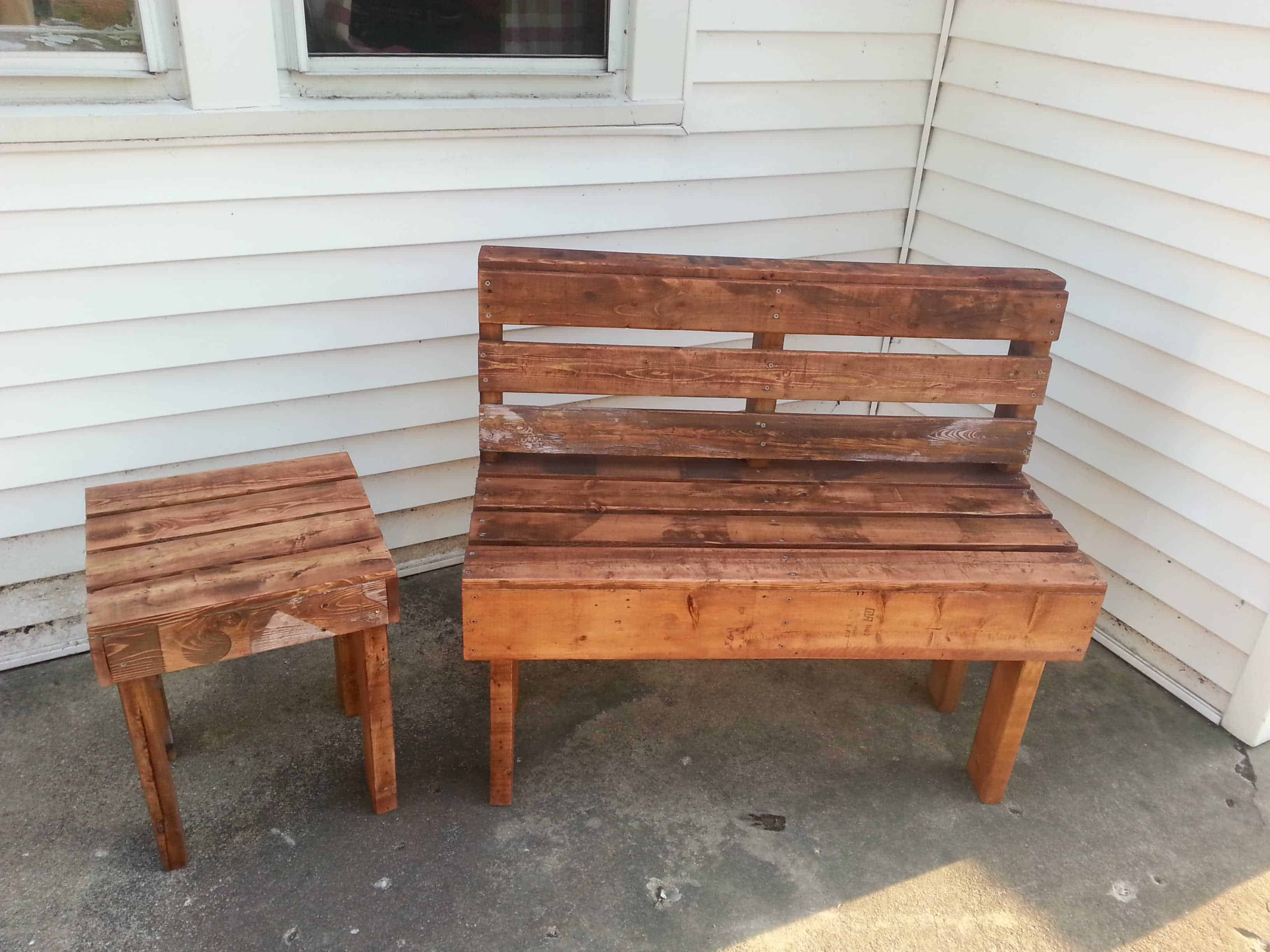 Pallet Bench amp Table Ideas 1001 Pallets