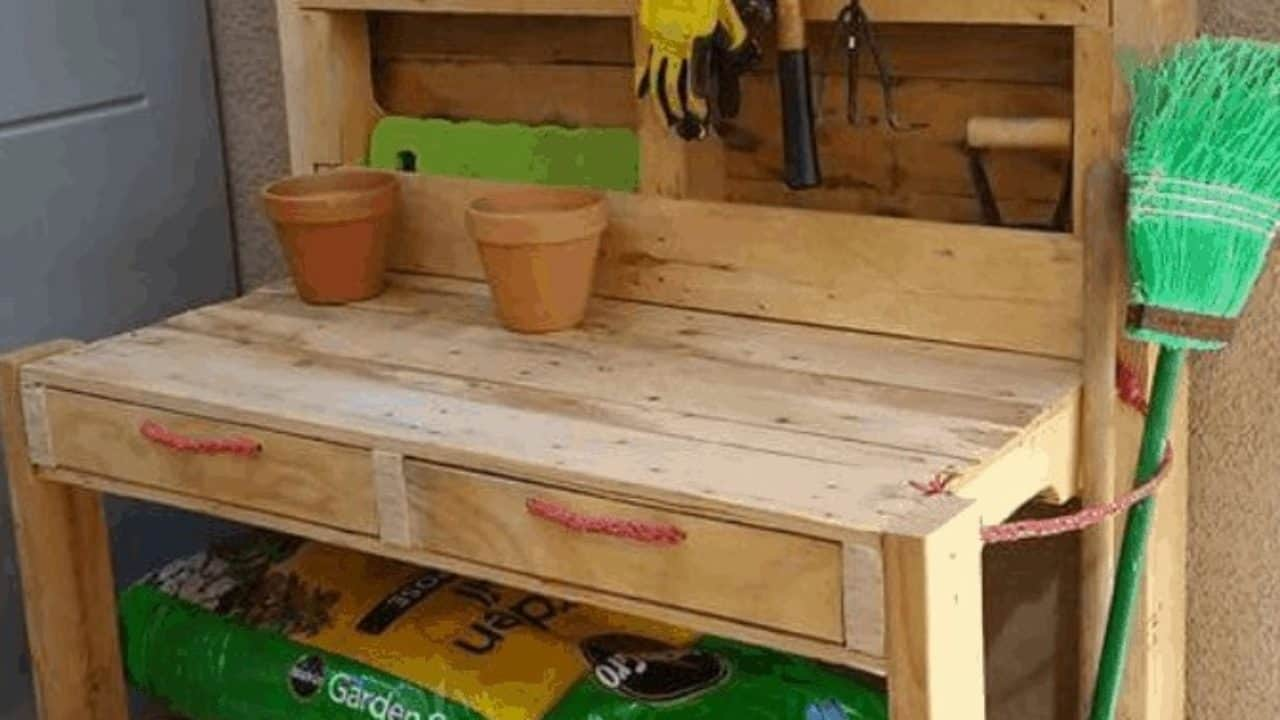 Pallet Garden Potting Bench 1001 Pallets