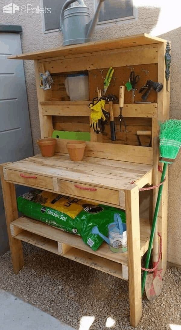 Pallet Garden Potting Bench Pallet Desks & Pallet Tables