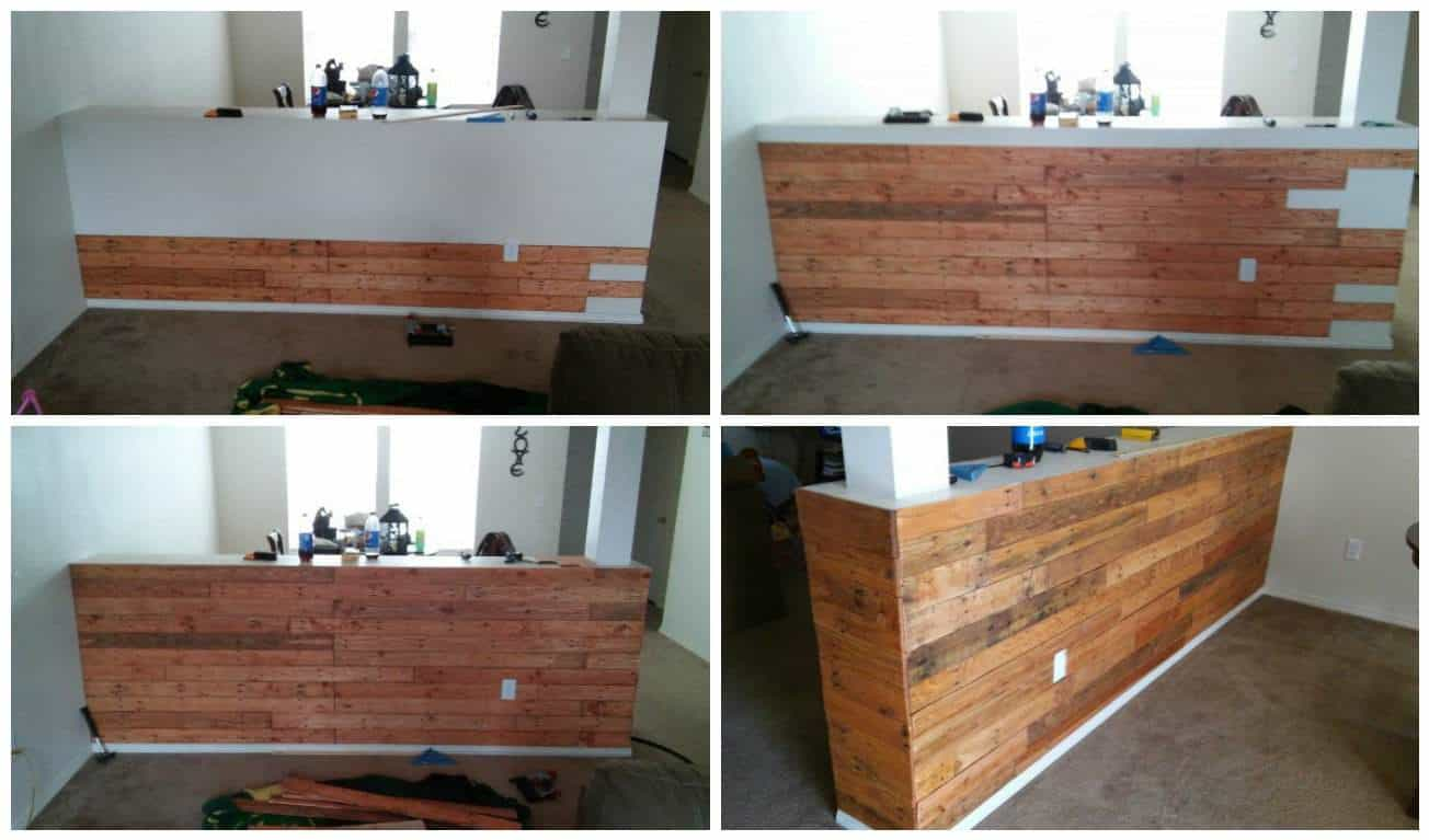 Pallet half wall 1001 pallets for How to build a wall bar