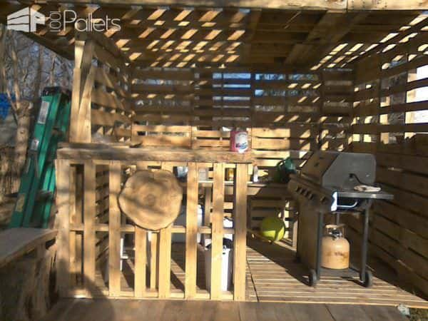 Pallet Hut - Work in Progress Pallet Sheds, Pallet Cabins, Pallet Huts & Pallet Playhouses
