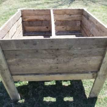 Pallet Planter to Avoid Backaches