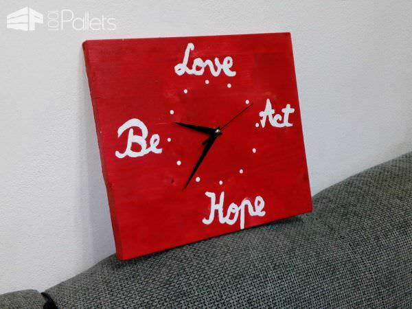 Pallet Wall Clock Pallet Clocks