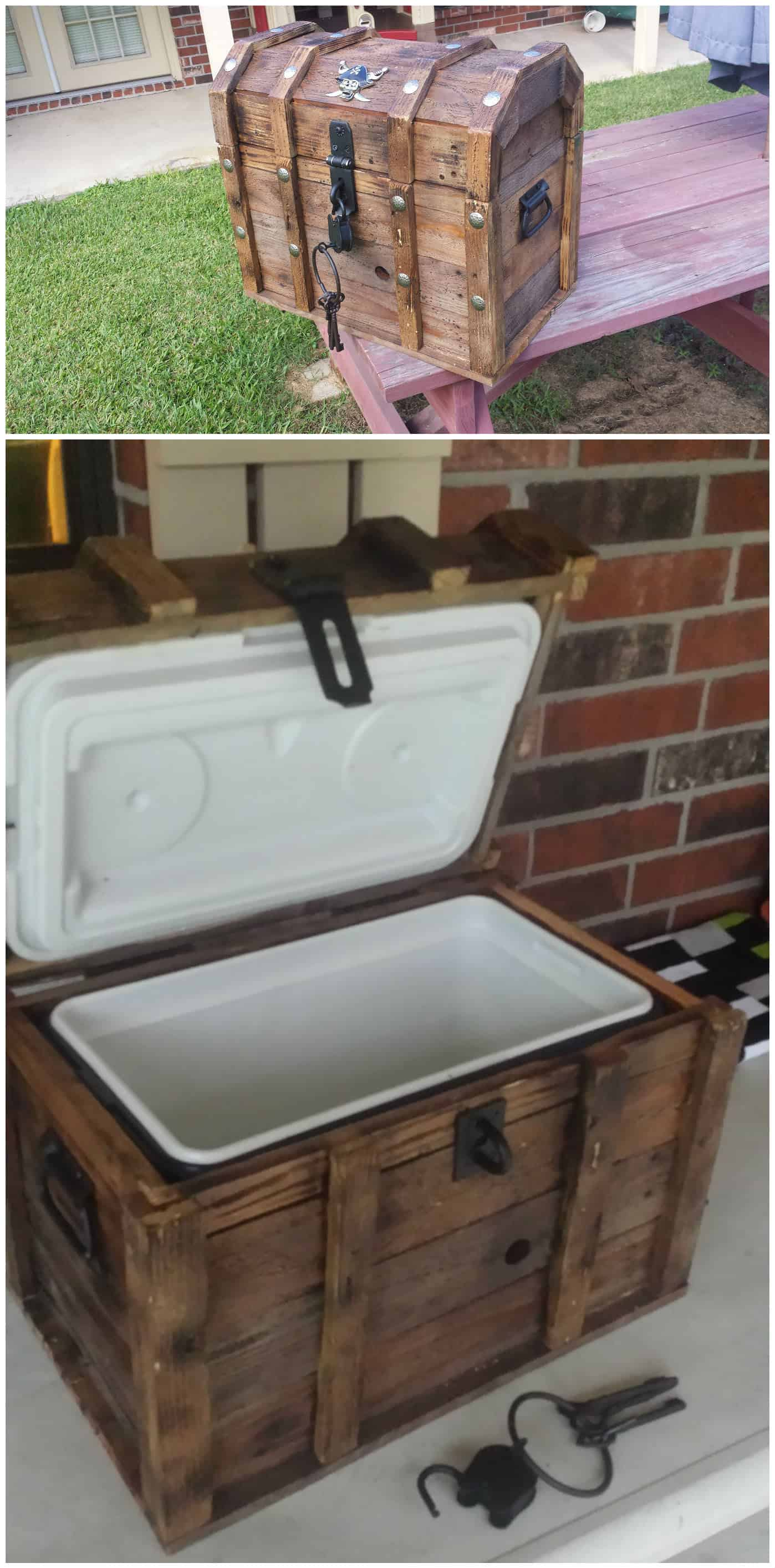 Pirate Treasure Chest Cooler Out Of 2 Pallets • Pallet Ideas • 1001 Pallets