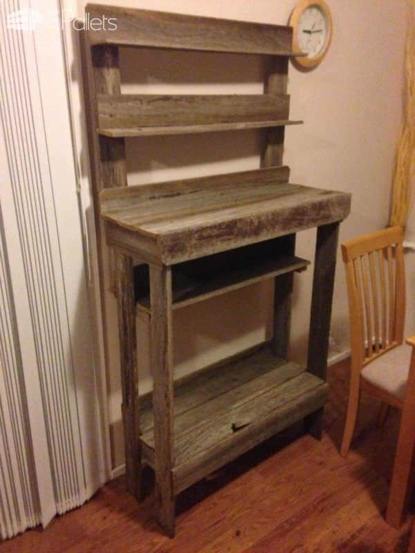 Side Board From Recycled Hardwood Fence Palings DIY Pallet Furniture