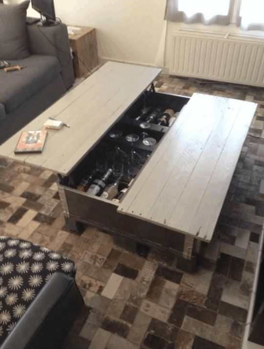 Table Basse Multifonctions / Multi-purpose Pallet Coffee Table Pallet Coffee Tables