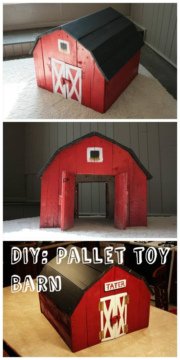 Toy Barn Made Out Of Pallets 1001 Pallets
