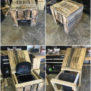Trash Can Cover Box Out Of 3 Repurposed Pallets