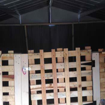 Using Pallets in Our Barn