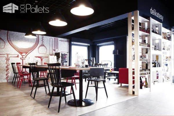 Wine Shop Architecture with a Pallet Twist DIY Pallet Projects Pallet Store, Bar & Restaurant Decorations