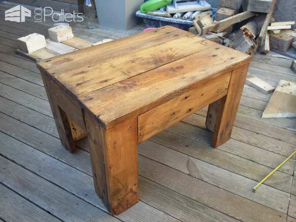 Xxl Stool & Its Coffee Table Pallet Benches, Pallet Chairs & Stools Pallet Coffee Tables