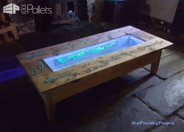 1001pallets Spring Contest 1st Place: Glow in the Dark Coffee Table Pallet Coffee Tables