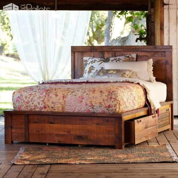 62 creative recycled pallet beds youu0027ll never want to leave diy pallet bed