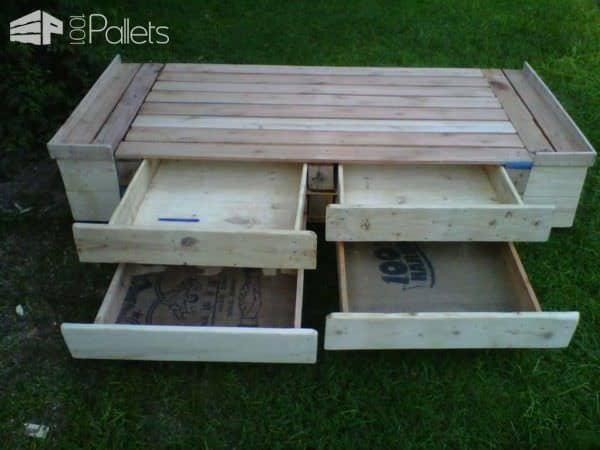 62 Creative Recycled Pallet Beds You'll Never Want To Leave! DIY Pallet Bed, Pallet Headboard & Frame