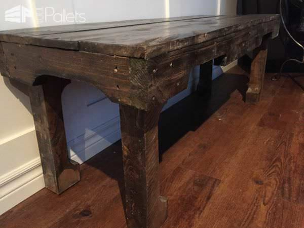 A Dark Walnut Extra Long Coffee Table Pallet Coffee Tables