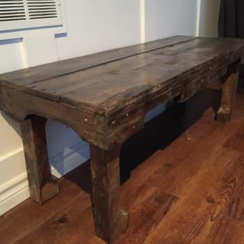 A Dark Walnut Extra Long Coffee Table