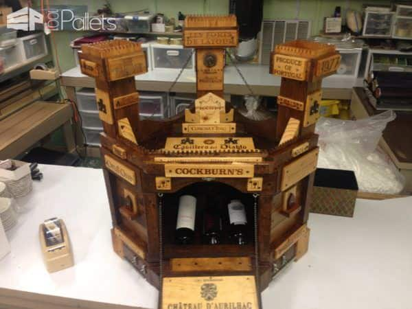 Amazing Pallet Wine Castle Pallet Boxes & Chests Pallet Home Accessories