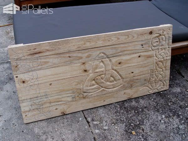 Celtic-inspired Pallet Blanket Chest Pallet Boxes & Chests