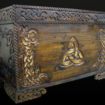 Celtic-inspired Pallet Blanket Chest