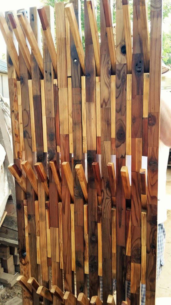 Coat, Clothing, Motorcycle Gear Rack Pallet Shelves & Pallet Coat Hangers