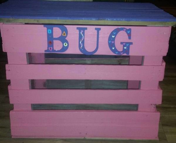 Customized Pallet Toy Box Pallet Boxes & Chests
