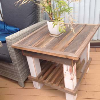 Distressed Elegance Sturdy Pallet Coffee Table