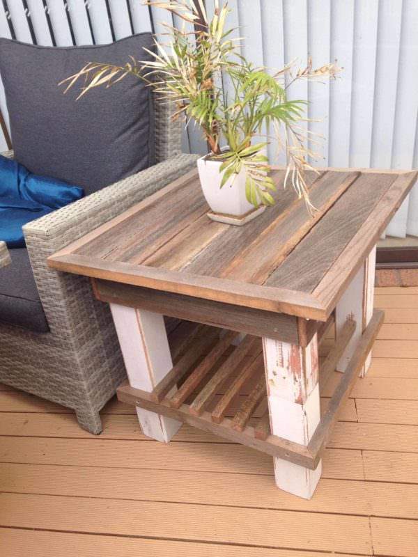 Distressed Elegance Sturdy Pallet Coffee Table 1001 Pallets