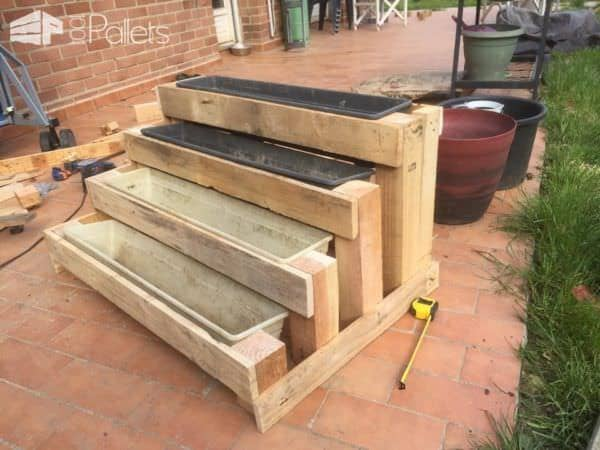 Diy: Pallet Stairs Planter Pallet Planters & Compost Bins
