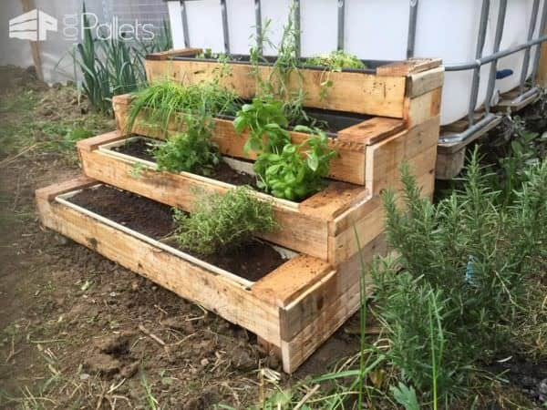 Diy pallet stairs planter 1001 pallets