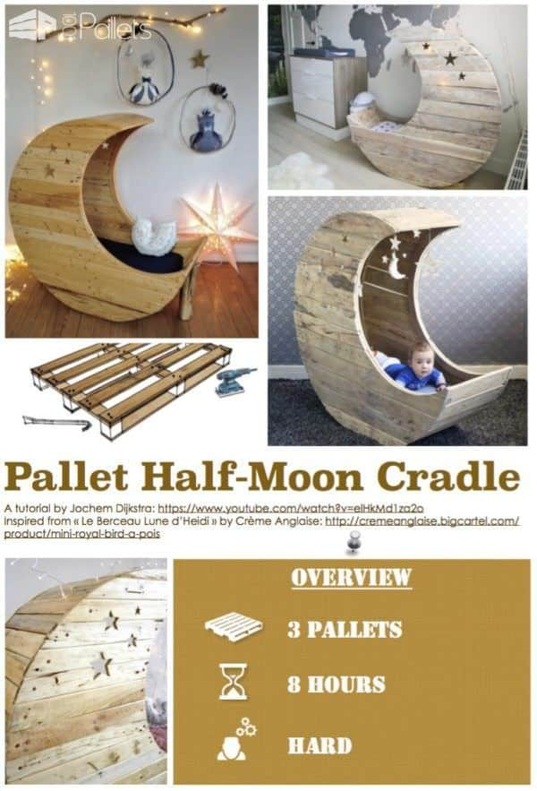 Diy Tutorial: Pallet Half-moon Cradle Step-By-Step Printable Pallet PDF Tutorials