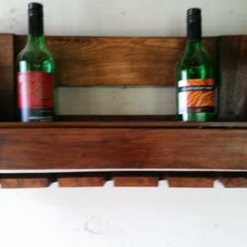 Euro-pallet Wine Rack & Glasses Holder