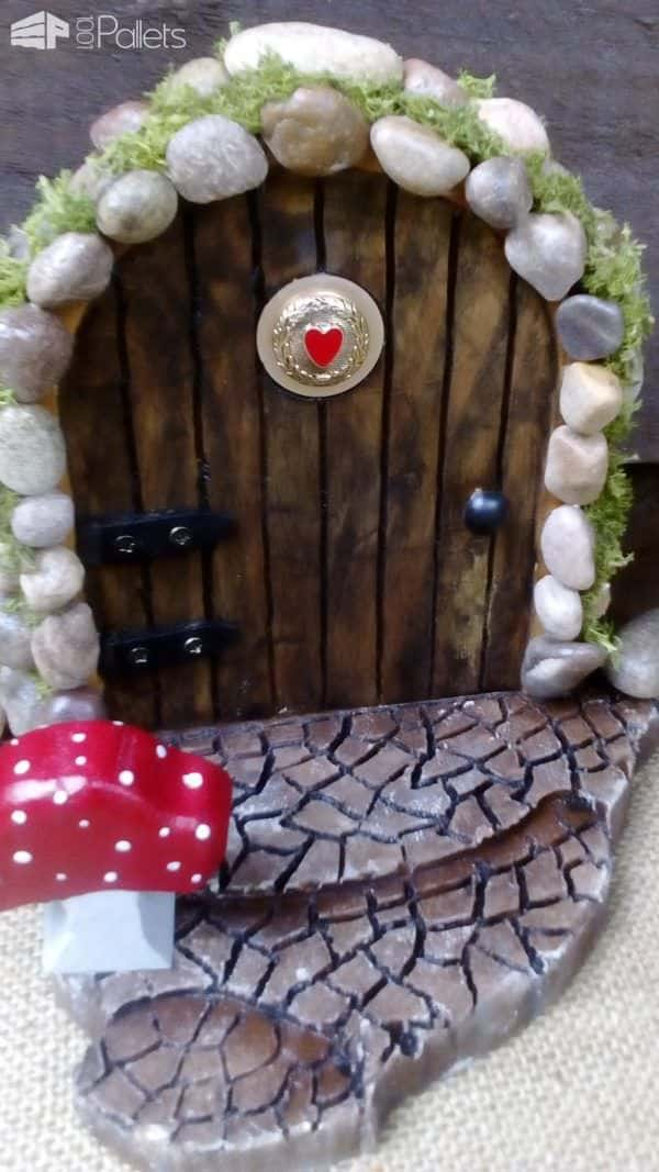 Fairy Doors from Pallets Pallets in The Garden