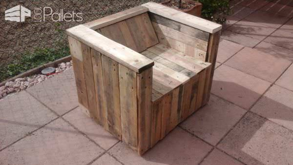 Fauteuil De Jardin / 5 Pallets Into Beautiful Garden Armchair Pallet Benches, Pallet Chairs & Stools