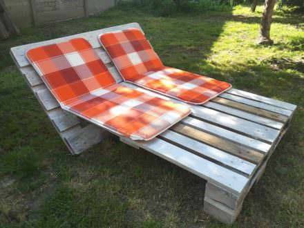 Garden Sun Lounger from 2 Pallets
