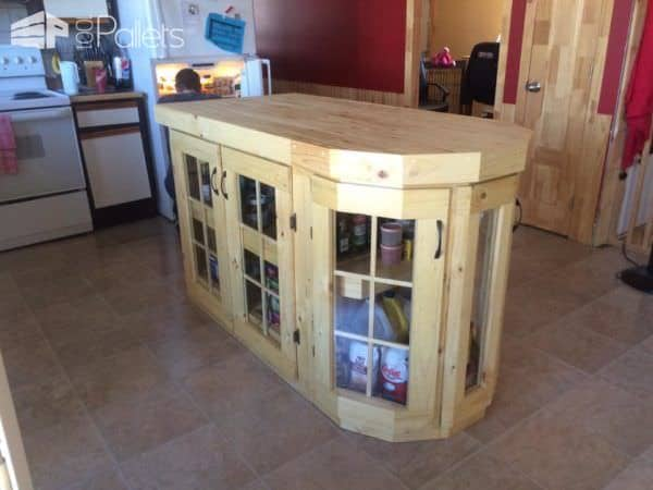 Handmade Kitchen Island Pallet Desks & Pallet Tables