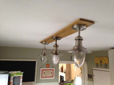 How I Made This Light Fitting for My Kitchen