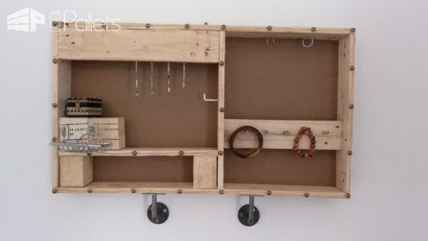 Industrial Style Jewel Holder from Pallets Pallet Shelves & Pallet Coat Hangers