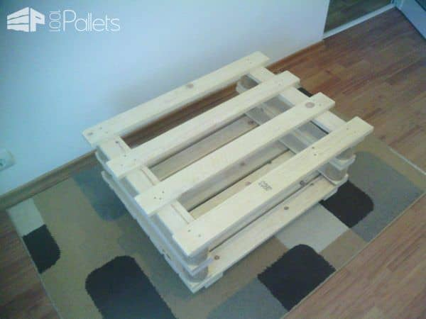 Mobile Pallet Coffee Table Pallet Coffee Tables