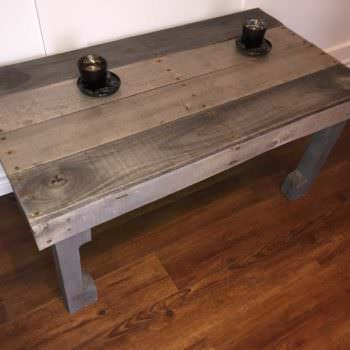 Naturally Sun-bleached Pallet Coffee Table