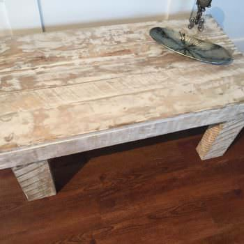 One Pallet Rustic White Coffee Table