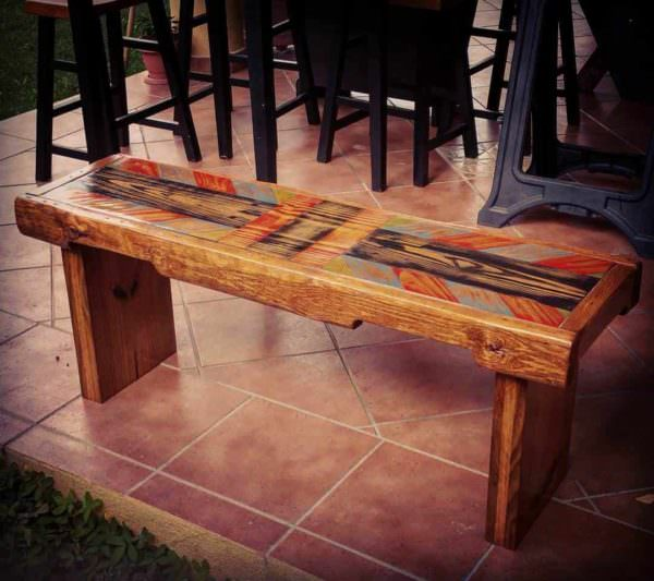 Painted Pallet Bench Pallet Benches, Pallet Chairs & Stools