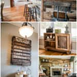 Pallet and Reclaimed Wood Decoration for a Contemporary House